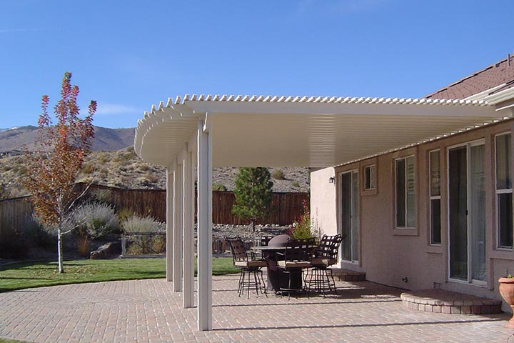A White Pergola Always Make A Statement Making A Space More Practical And  Definetely More Beautiful