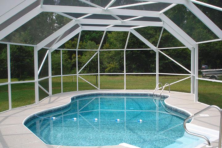 Pool Enclosures Swimming Pool Screen Swimming Pool Protection Summerdale Alabama