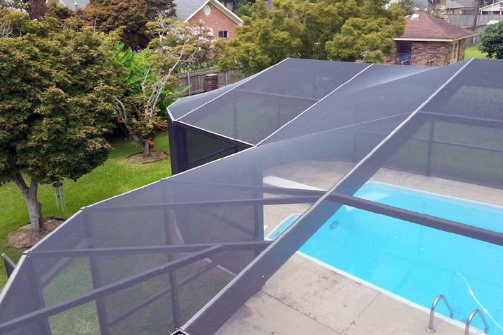 This Pool Enclosure Follows The Rounded Shapes Of Swimming In A Fluid And Well