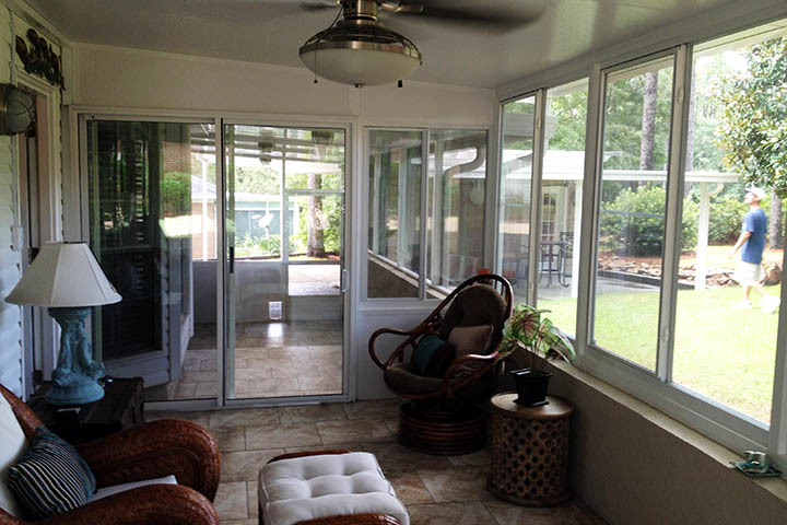 The Southern States Benfit From Sunrooms Because A Space Is Created That  Shelters From The Weather